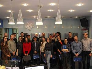 Посвящение в студенты в Языковой школе на Щербанева